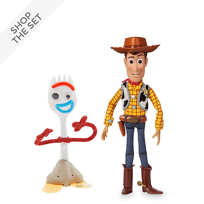 Disney Store Woody and Forky Talking Action Figure Bundle