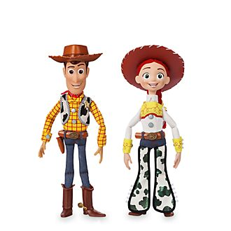 Disney Store Woody and Jessie Talking Action Figure Bundle