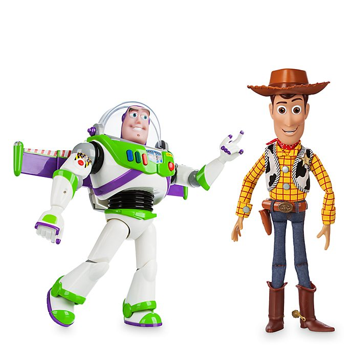 Disney Store Woody and Buzz Lightyear Talking Action Figure Bundle