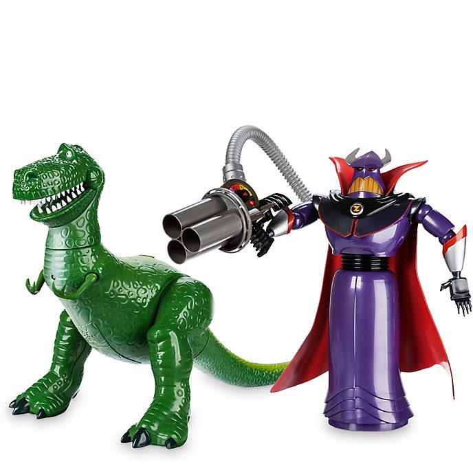 Disney Store Zurg and Rex Talking Action Figure Bundle