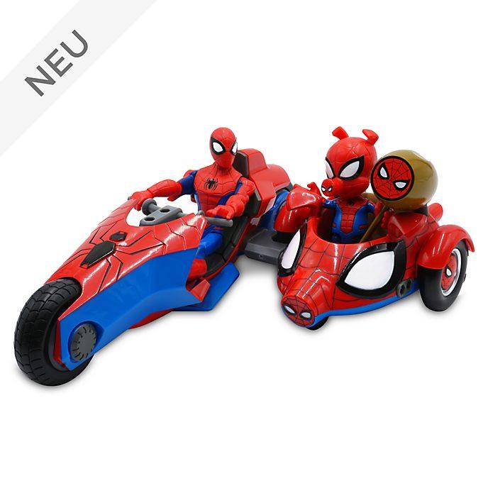Disney Store - Marvel Toybox - Spider-Man und Spider-Ham - Spielset mit Actionfiguren und Motorrad