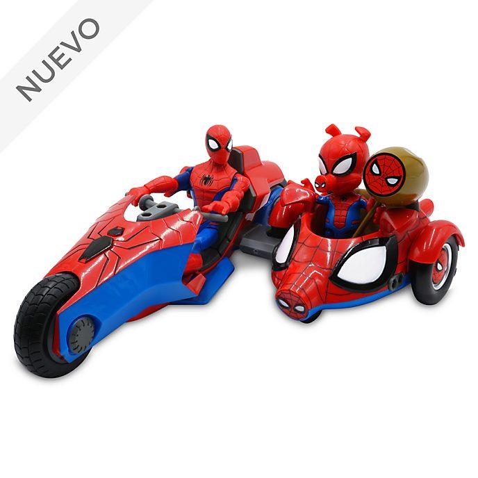 Set juego de figuras de acción Spider-Man y Spider-Ham con moto, Marvel Toybox, Disney Store