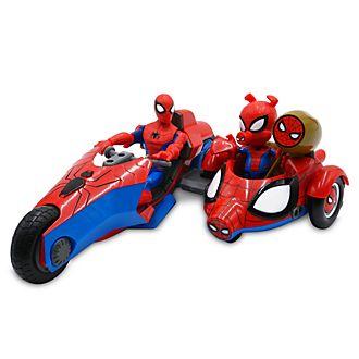 Disney Store Coffret moto et figurines Spider-Man et Spider-Cochon, collection Marvel Toybox