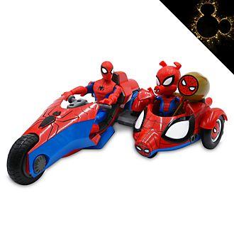 Set da gioco action figure e motocicletta Spider-Man e Spider-Ham Marvel Toybox Disney Store