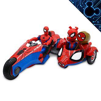 Disney Store Marvel Toybox Spider-Man and Spider-Ham Action Figure Bike Playset