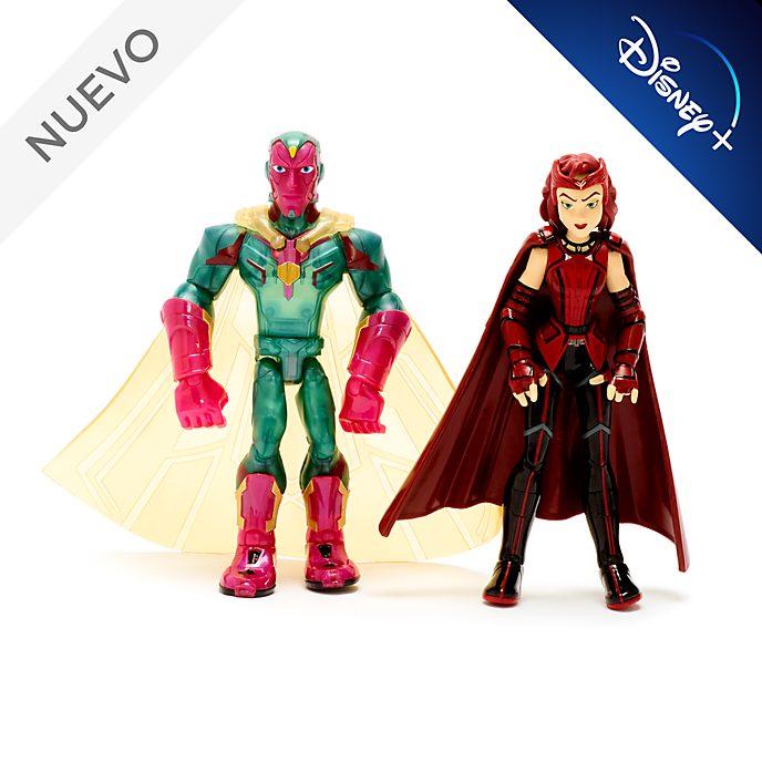 Set muñecos acción Bruja Escarlata y Visión, Marvel Toybox, Disney Store