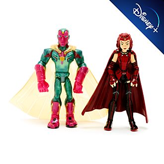 Coppia di action figure Scarlet Witch e Visione Marvel Toybox Disney Store