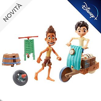 Set di personaggi Luca Scooter Build & Crash Mattel
