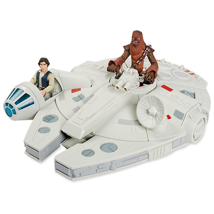 Disney Store Faucon Millenium avec figurines, Star Wars Toybox
