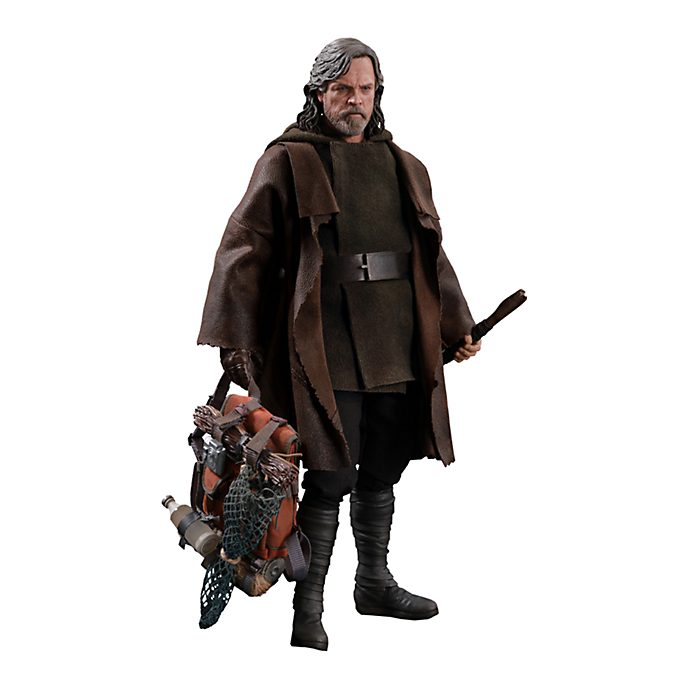 Hot Toys Luke Skywalker Deluxe Collectible Figure, Star Wars: The Last Jedi