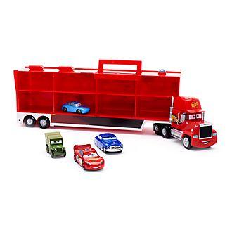 Tráiler Mack con 4 vehículos a escala con movimiento por retroceso, Disney Pixar Cars, Disney Store