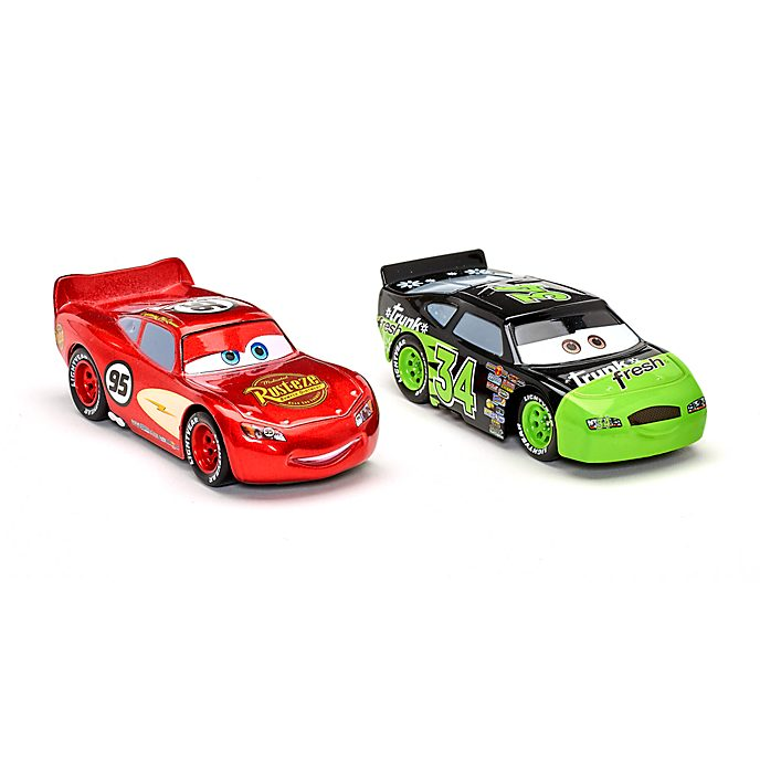 Vehículos a escala Rayo McQueen y Dirkson D'Agostino, Disney Store (2 u.)