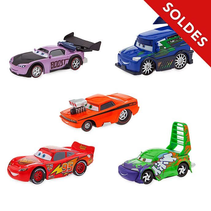 Disney Store Ensemble de voitures miniatures Flash McQueen et Delinquant Road Hazard