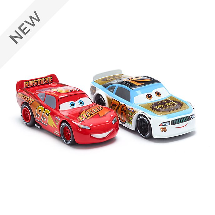 Disney Store Lightning McQueen and Rev Roadages Die-Cast Twin Pack