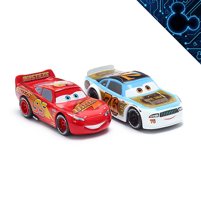 Set vehículos a escala Rayo McQueen y Rev Roadages, Disney Store (2 u.)