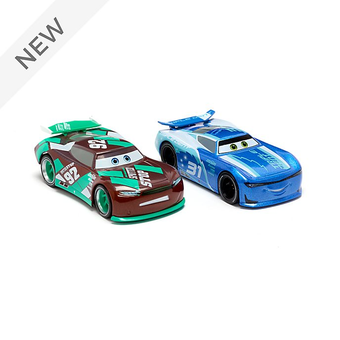 Disney Store Cam Spinner and Sheldon Shifter Die-Cast Twin Pack