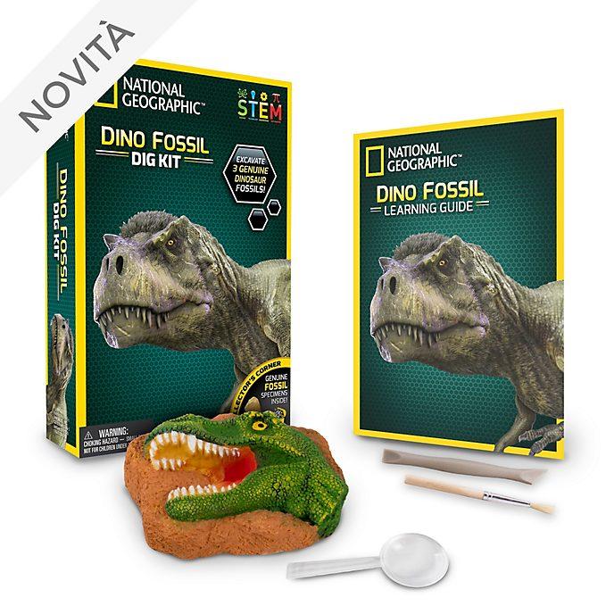 Kit di scavo con fossili di dinosauri National Geographic Bandai