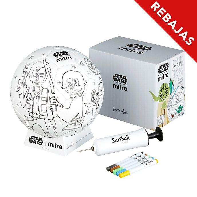 Balón para colorear Scriball Yoda, Star Wars, Mitre
