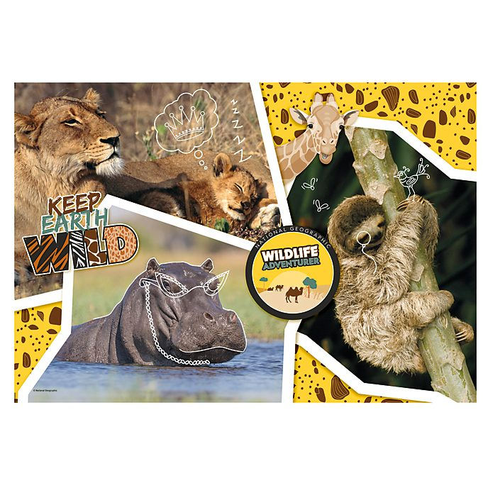 Clementoni Puzzle National Geographic Wildlife Adventurer 104 pièces
