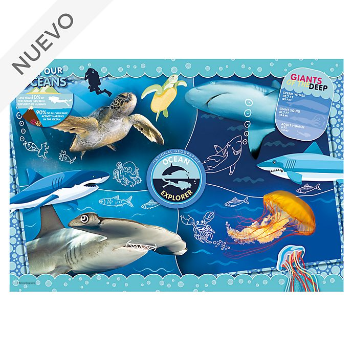 Clementoni puzle explorador océano, National Geographic (104piezas)