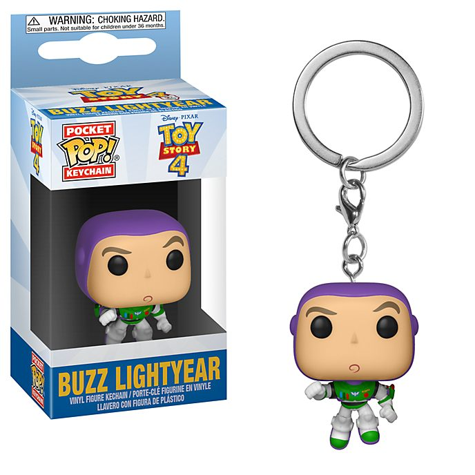 Portachiavi in vinile Buzz Lightyear Toy Story 4 serie Pop! di Funko