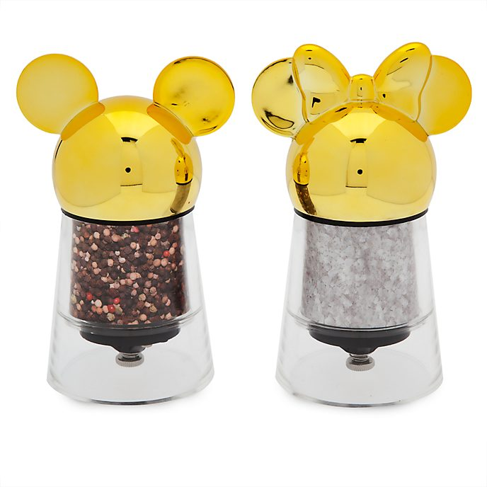 Disney Store Mickey and Minnie Disney Eats Salt and Pepper Mill Set