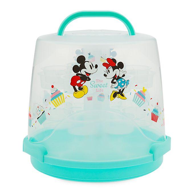 Disney Store - Disney Eats - Micky und Minnie- Ständer und Transportbox für Cupcakes