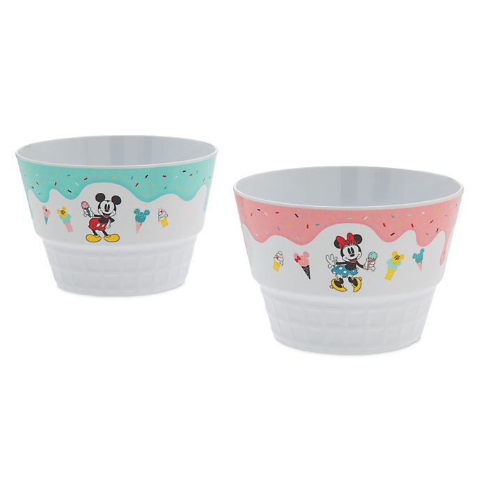 Disney Store Lot de 2 bols Mickey et Minnie, Disney Eats