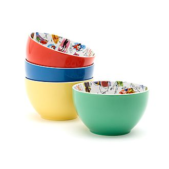 Disney Parks Ink & Paint Bowls, Set of 4