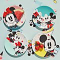 Disney Store Mickey and Minnie Disney Eats Plates, Set of 4