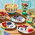 Disney Store Mickey and Minnie Disney Eats Salad Bowl Set