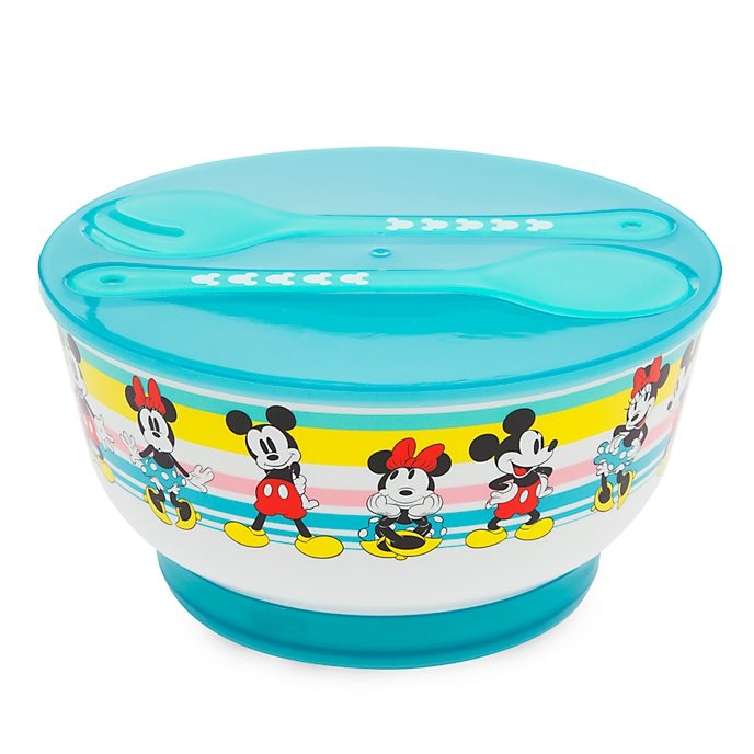 Disney Store Mickey and Minnie Disney Eats Salad Bowl Set