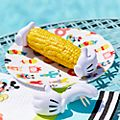 Disney Store Mickey Mouse Disney Eats Corn Holders, Set of 8