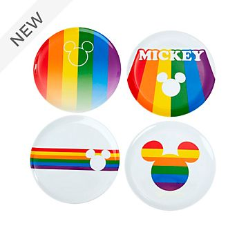 Funko Mickey Mouse Rainbow Plates, Set of 4