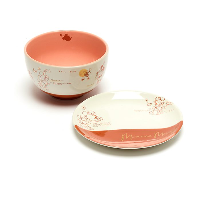 Disney Store Minnie Mouse Sketch Bowl and Saucer