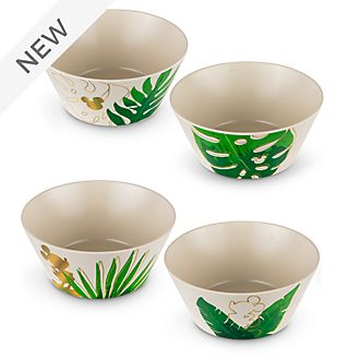 Disney Parks Mickey Mouse Tropical Hideaway Bowls, Set of 4