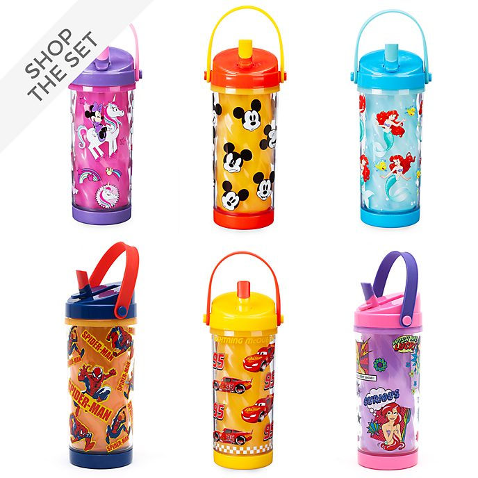 Disney Store Colour Changing Water Bottle Collection