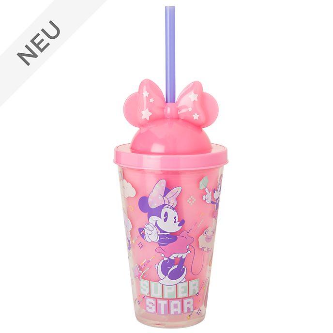Disney Store - Minnie Maus - Geheimnisvoller, leuchtender Strohhalm-Becher