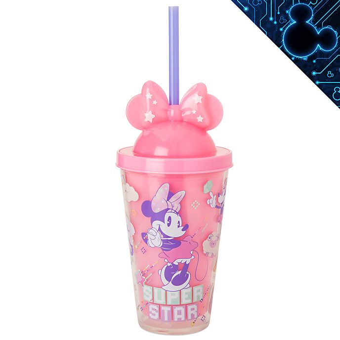 Bicchiere che si illumina con cannuccia Minnie Mouse Mystical Minni Disney Store