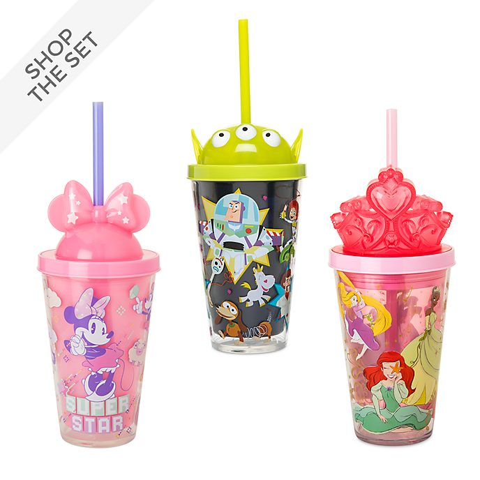 Disney Store Light-Up Straw Tumbler Collection