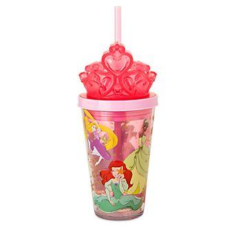 Vaso con pajita iluminado princesas Disney, Disney Store