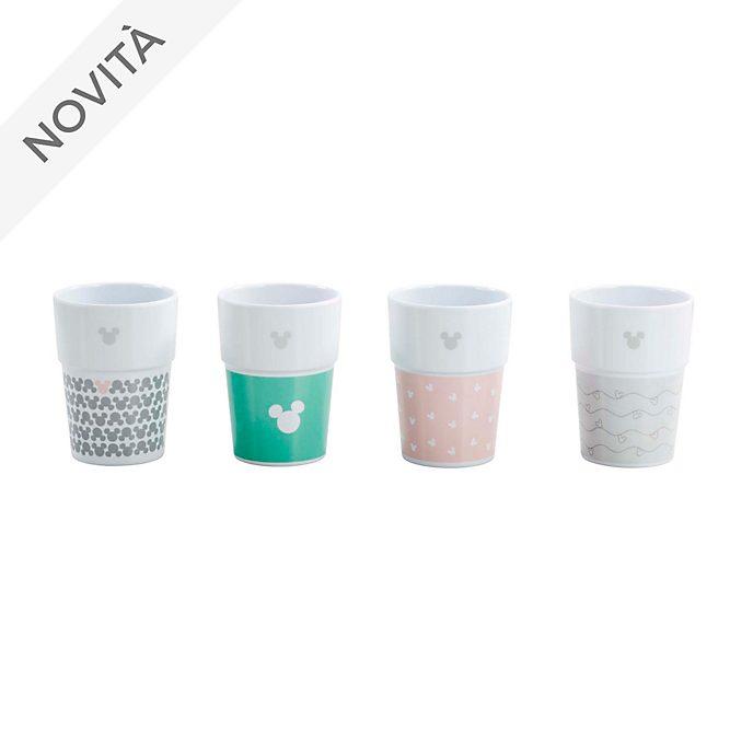 Bicchieri pastello Topolino Funko, confezione da 4