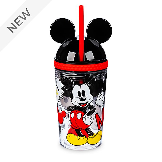 Disney Store Mickey Mouse Straw Tumbler and Snack Pot