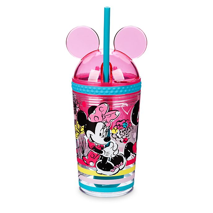Disney Store - Minnie Maus - Strohhalm-Becher und Snackschüssel