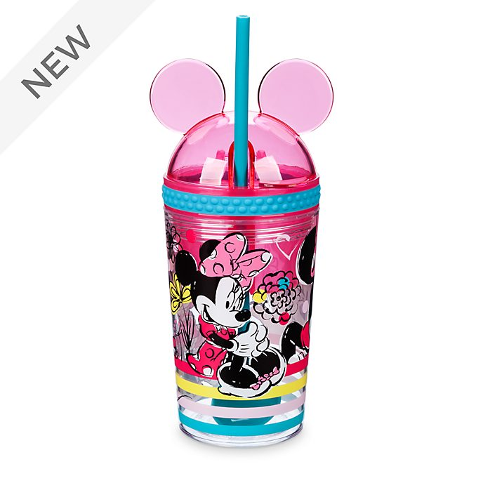 Disney Store Minnie Mouse Straw Tumbler and Snack Pot