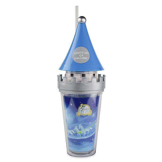 Disney Store Cinderella Castle Light-Up Straw Tumbler