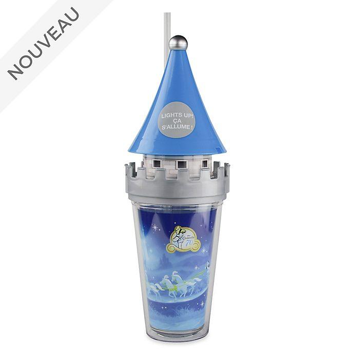 Disney Store Gobelet lumineux avec paille Château de Cendrillon