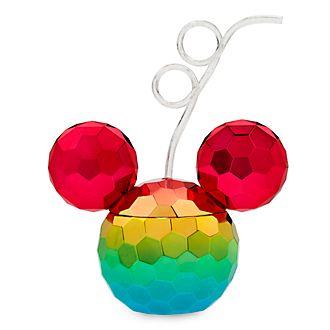 Disney Store Gobelet avec paille Mickey, Rainbow Disney
