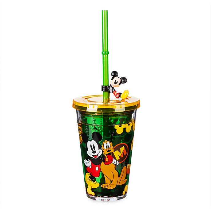 Disney Store Mickey and Pluto Straw Tumbler