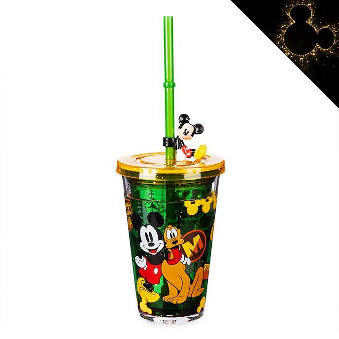 Bicchiere con cannuccia Topolino e Pluto Disney Store
